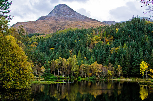 mountain lake scotland highlands nikon glencoe coniferouswoodland glencoelochan thepapofglencoe d5100