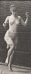 Semi-nude woman hopping on left foot (rbm-QP301M8-1887-185c~5)