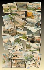 Aquarelles - Cartes postales 1900