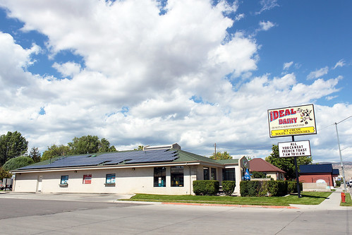 The recently installed solar panels on the roof of Ideal Dairy in Richfield, Utah save them around $400 per month in utility costs on average.