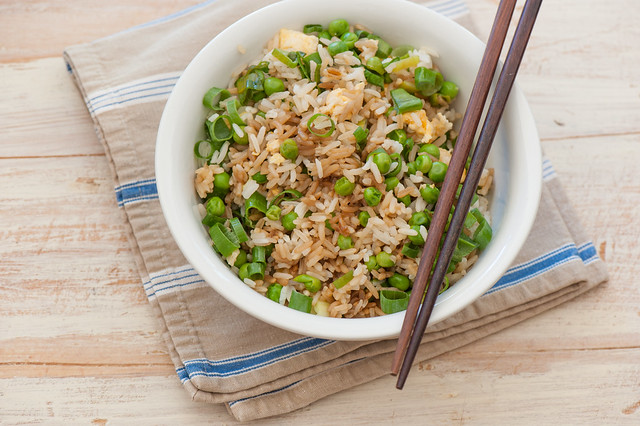 One Pot Dinner Recipe egg & pea fried rice