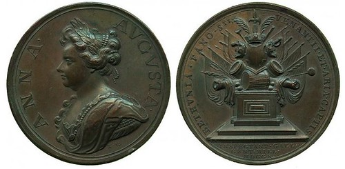 Medal Anne, Bethune, St Venant and Aire, 1710