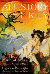 All-Story Weekly Vol. 56, No. 4 (April 8, 1916). Cover Art by P. J. Monahan