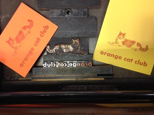 Printing Orange cats