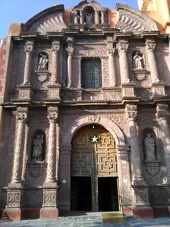 Baroque facade, the Oratorio, San Miguel de Allende, Gto., Mexico