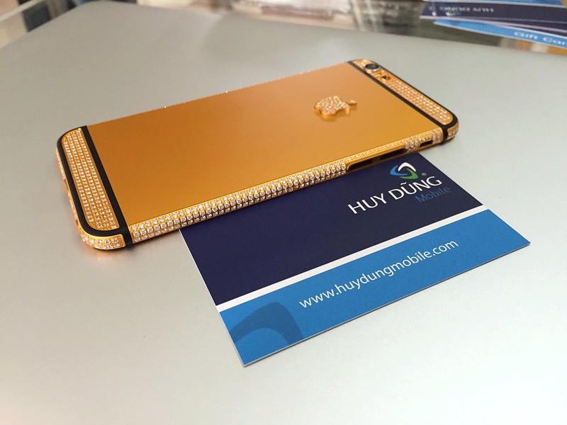Thay vỏ zin vàng cẩn đá tinh xảo iPhone 6, 6+