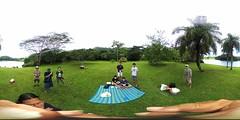 TFCCCH families at the lake at Ho'omaluhia Botanical Garden in Kaneohe,  O'ahu. Hawai'i -a 360° Equirectangular VR