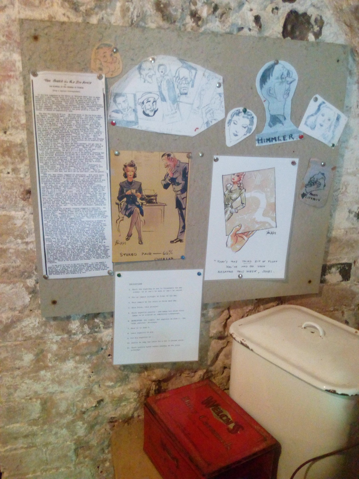 Calligrapher cartoons The Ice House at Hughenden