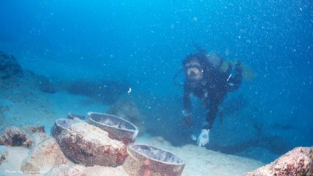 えぇ湯加減の海底温泉♪