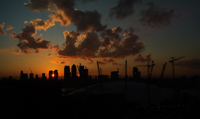 Sunset over the 02Arena