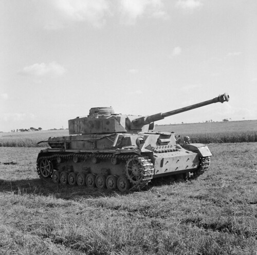 Tank Pz. Kpfw. IV Ausf. H-22 Regiment of the Wehrmacht captured by British forces in Normandy
