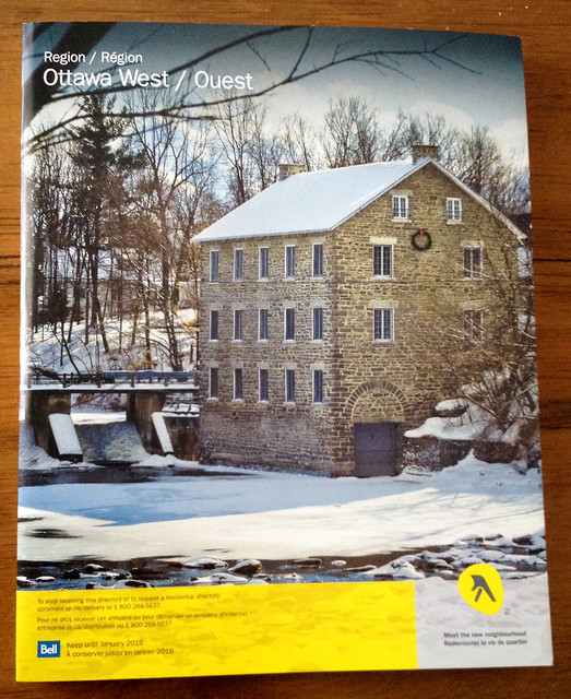 My photo of Watson's Mill on the local Yellow Pages directory. :)