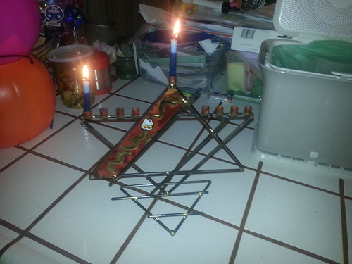 Katie, without prompt, explained Hanukkah to Max and I tonight. <3