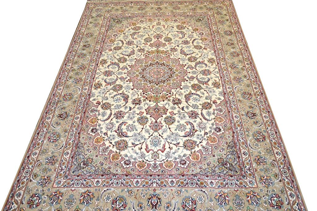 Isfahan Fine 7x10 persian Area Rug Earth Tone Color (1)