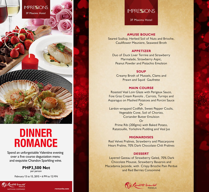 Valentine's Menu at Impressions