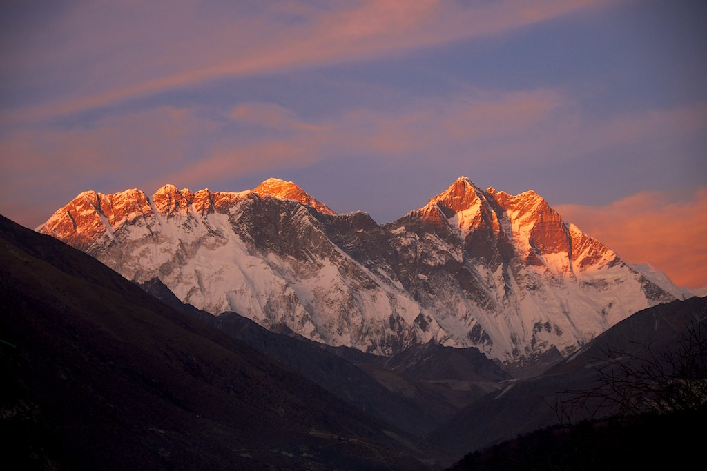 Sunset In Tengboche
