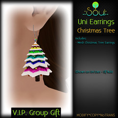 2014 UniEarrings ChristmasTrees - VIP