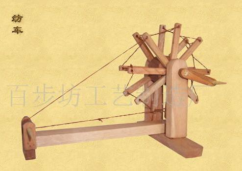 Ancient Chinese spinning wheel