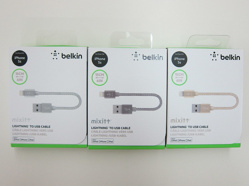 Belkin MIXIT Metallic Lightning to USB ChargeSync Cable (6 Inch) - Box Front
