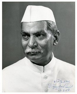 Rajendra Prasad (Indian President), signed image for Walter Nash (NZ Prime Minister), 1958