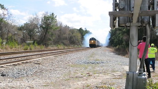 SMOKING CSX OFFICE TRAIN CALLAHAN FL