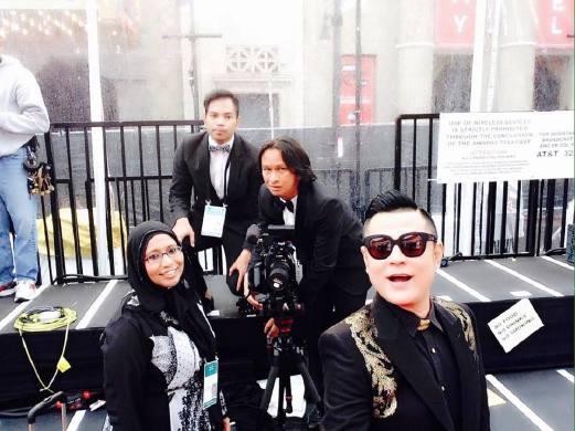 Gambar Aznil Nawawi di Anugerah Academy Awards Ke-87