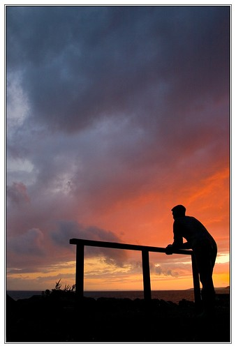 blue sunset shadow red sky sculpture colors silhouette clouds fence skyscape scotland stand poem skies colours peace purple thinking stare resting cloudscape contemplating contemplation dumfries galloway machars portwilliam williamhenrydavies wigtownshire standandstare