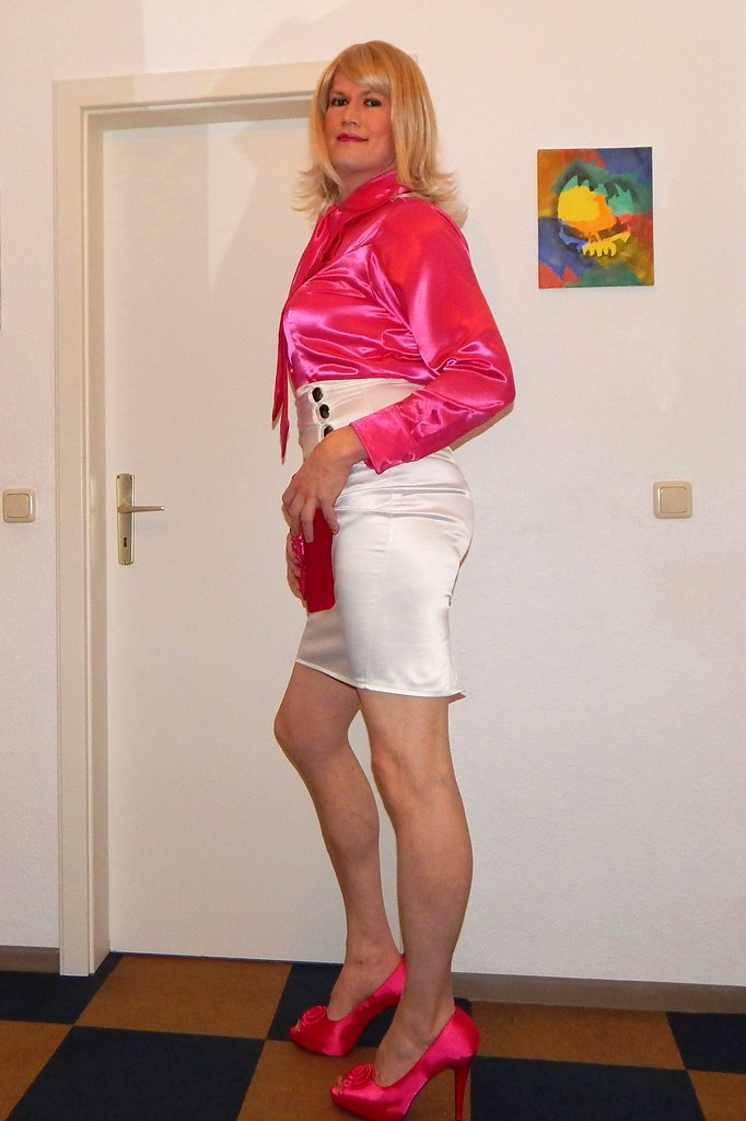 Silk satin transvestite