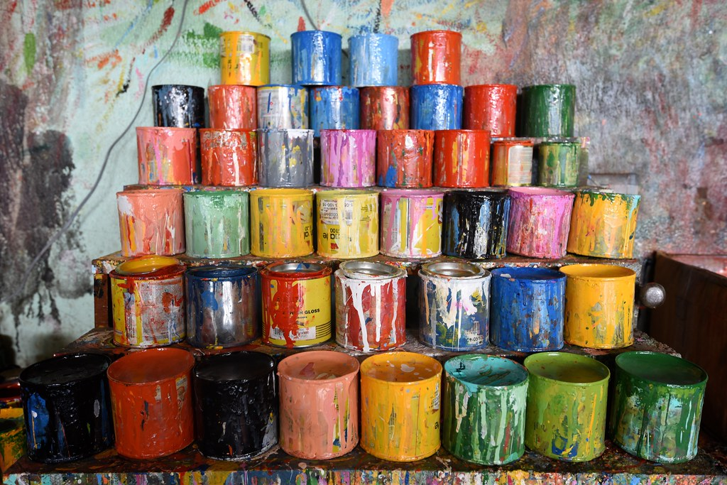 Oxcart Paint Cans
