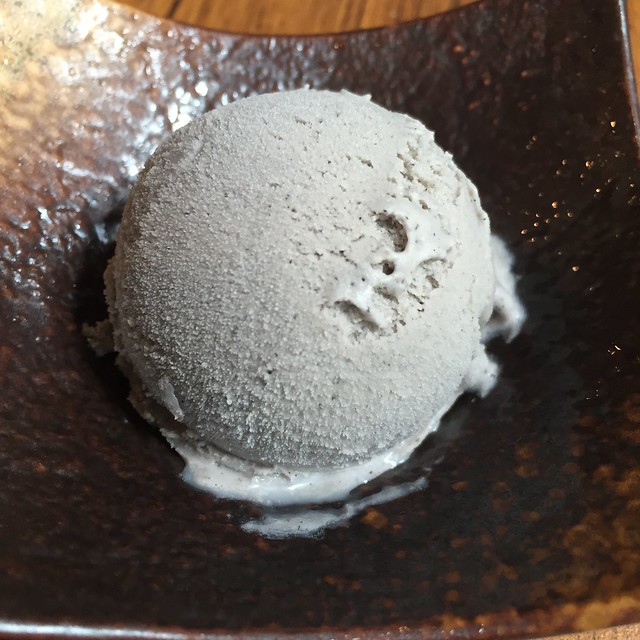 Goma (Black Sesame) Ice Cream at Marusaya