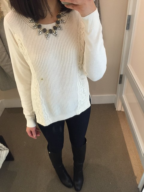 LOFT Lace Edge Sweater, size MP