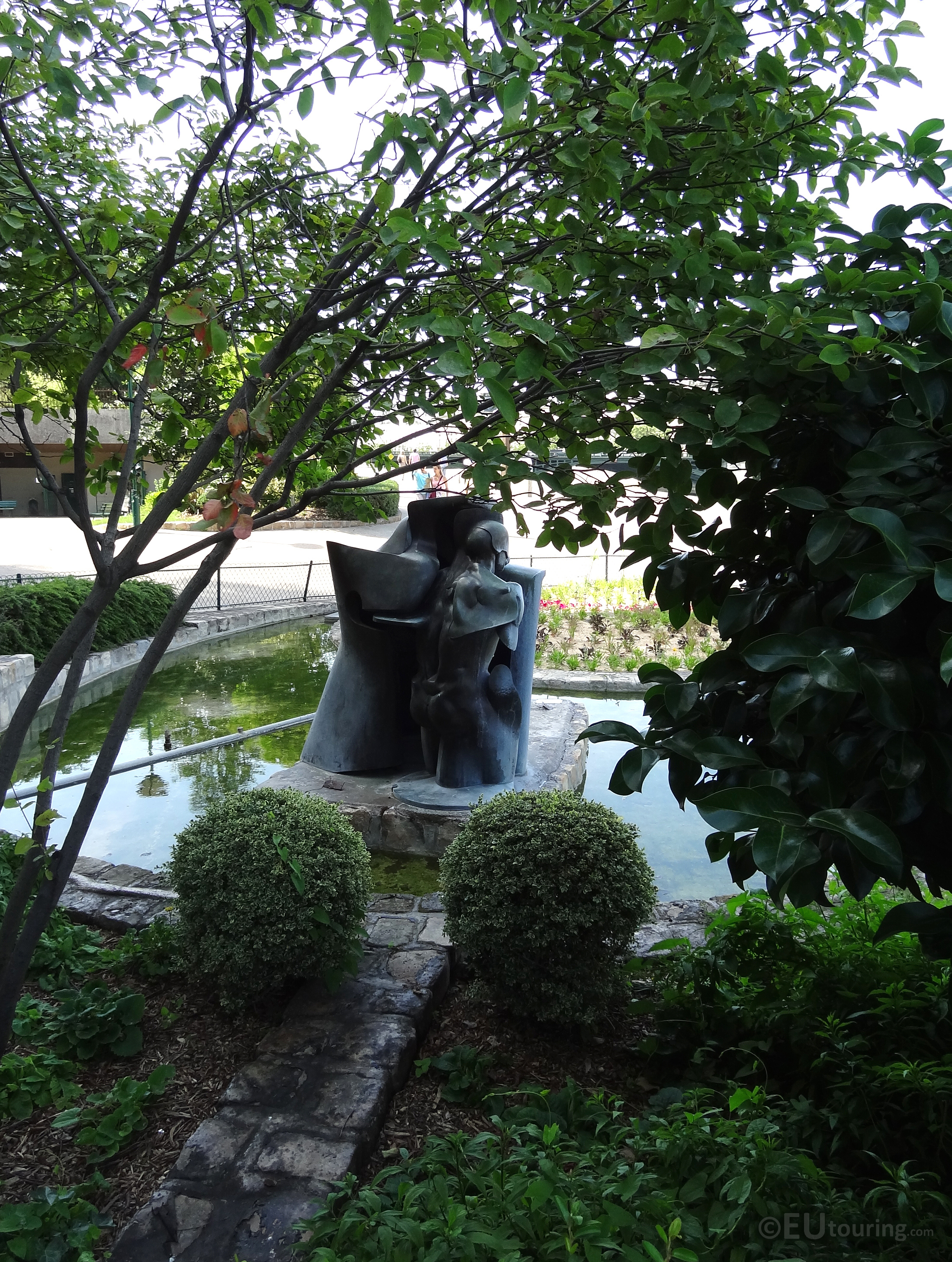 Water feature within the gardens