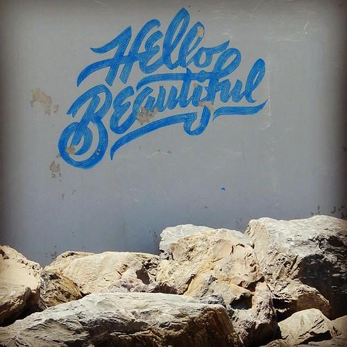 The beach wall that makes you feel good. #Adelaide #SouthAustralia