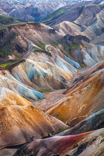 mountain color painting island iceland colorful outdoor hiking wanderlust hills backpacking valley painter backpacker wandern palette landmannalaugar
