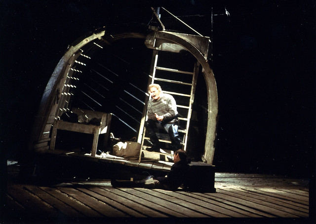 Jon Vickers as Peter Grimes in The Royal Opera production of Peter Grimes (1975), directed by Elijah Moshinsky, at the Royal Opera House, Covent Garden. Photograph by Donald Southern