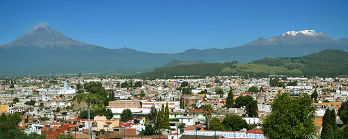 city travel summer panorama mountain america landscape mexico volcano high san colorful view sommer altitude central peak tourist pedro amerika cholula landschaft andrés volcan udsigt vulkan landskab popocatépetl iztaccihuatl bjerg mellemamerika