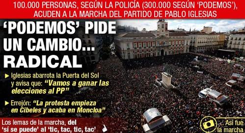 Podemos reune a  200.000 personas en Madrid