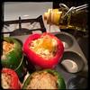 #CucinaDelloZio - #homemade #StuffedPeppers - #peperoni #imbottiti - then w/ #OliveOil