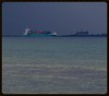 A containership and Kronborg castle