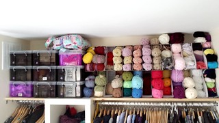 Yarn storage. Homemade wardrobe. Ikea hack