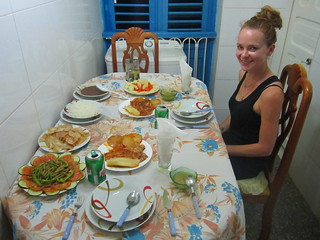 Dinner at our casa particulars.  Vinales, Cuba.