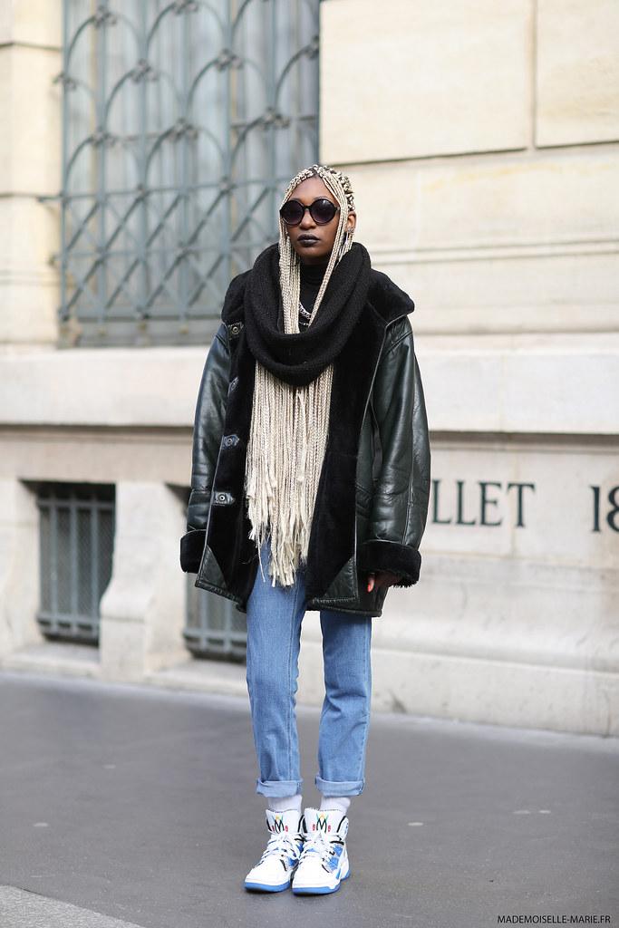 Leslie at Paris fashion week