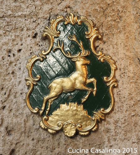 Goldener Hirsch Tuerschild