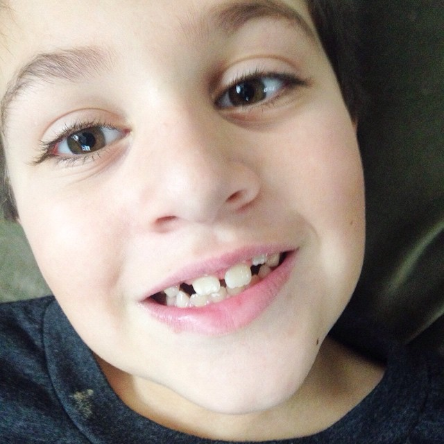 Someone lost another tooth yesterday #owenchristopher