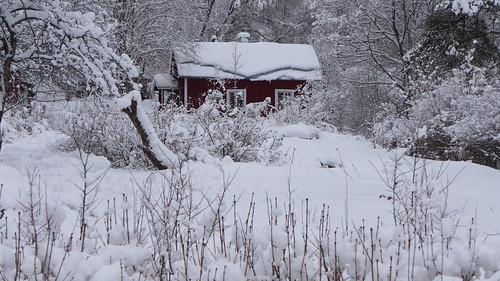 winter snow cottage lumi talvi mökki kuusankoski