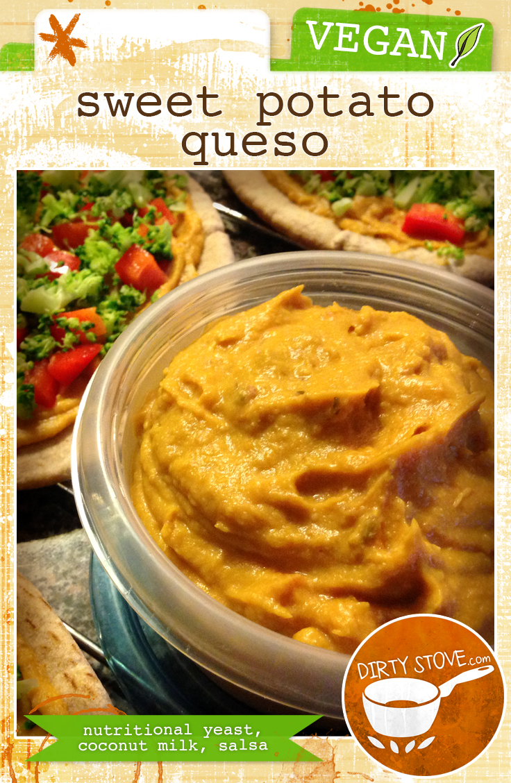 Vegan Sweet Potato Queso Cheez Dip by DirtyStove.com