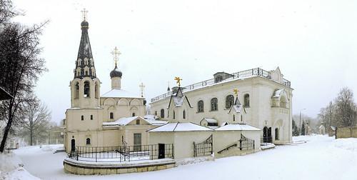 панорама колокольня купола долгопрудный снегопад спасскийхрам беспридел
