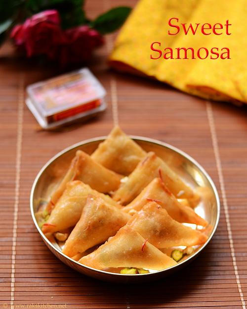 sweet somas with khoya nuts