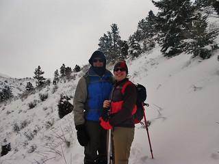 Dennis and Clare Hiking Mt Galbraith