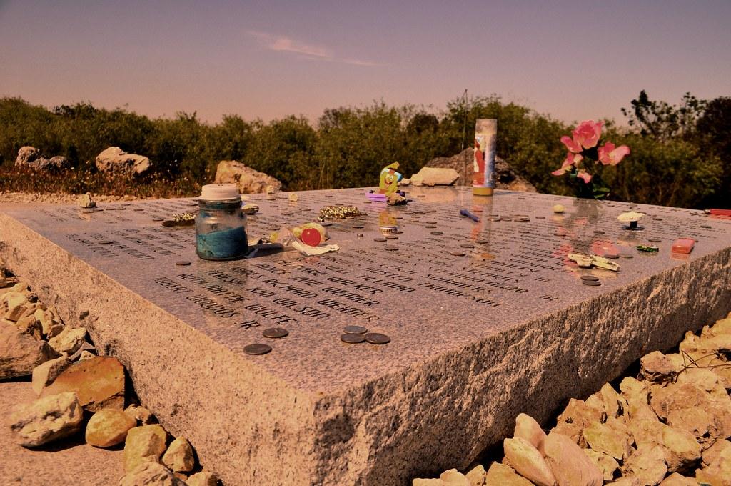 Mementos Left at the Flight 592 Memorial